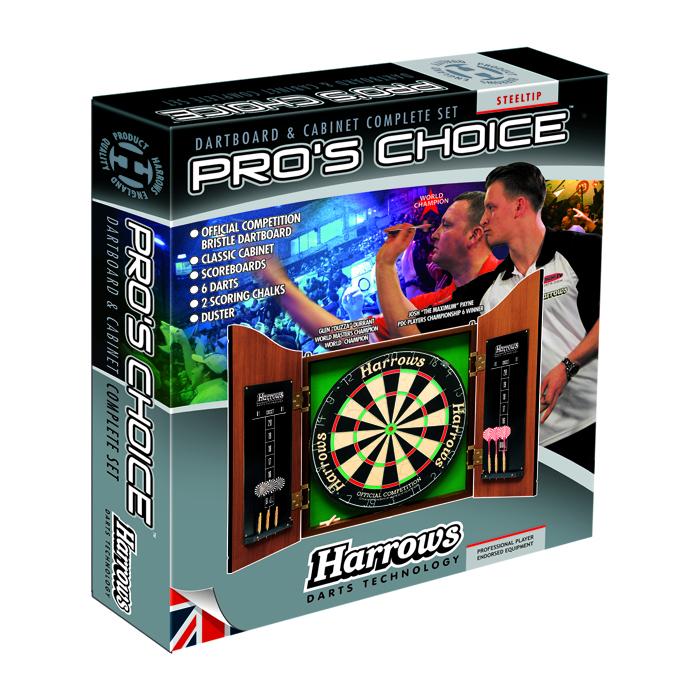 Darttavla med skåp-Harrows Pro´s Choice