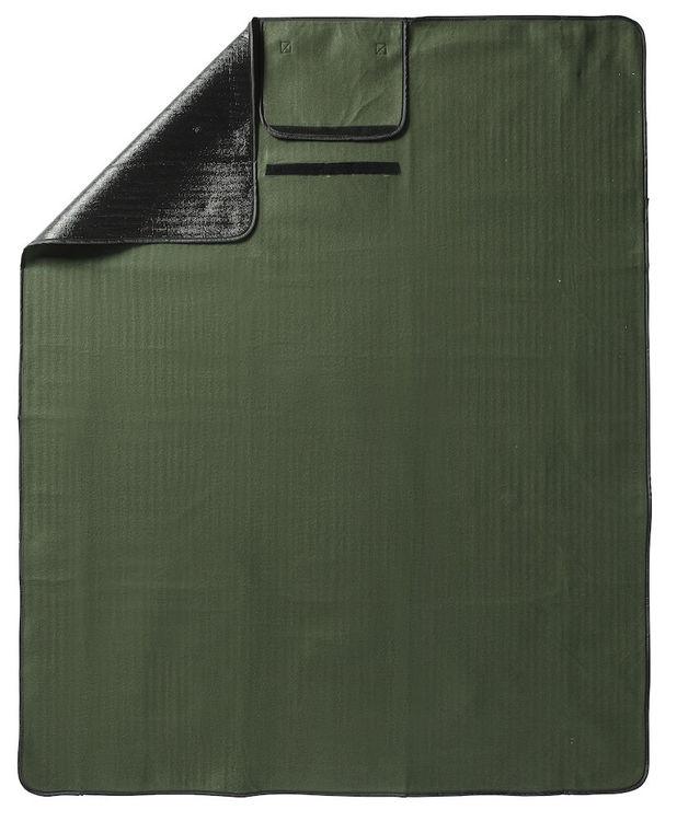 Grönt sittunderlag/pläd 120x150cm
