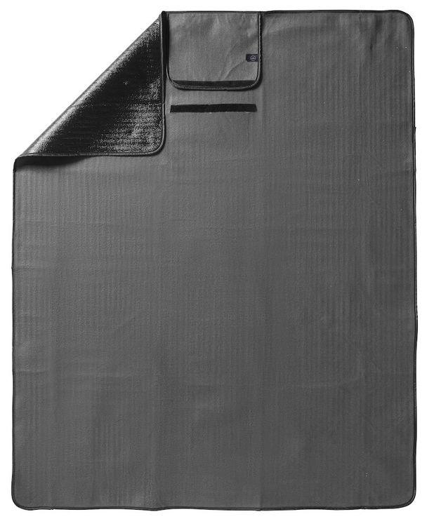 Grå sittunderlag/pläd 130x170cm