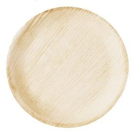 Engångstallrik i trä 19cm
