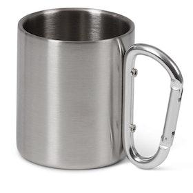 Mugg i aluminium med karbinhake