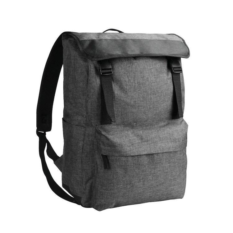 Grå melange dator ryggsäck - Bags First