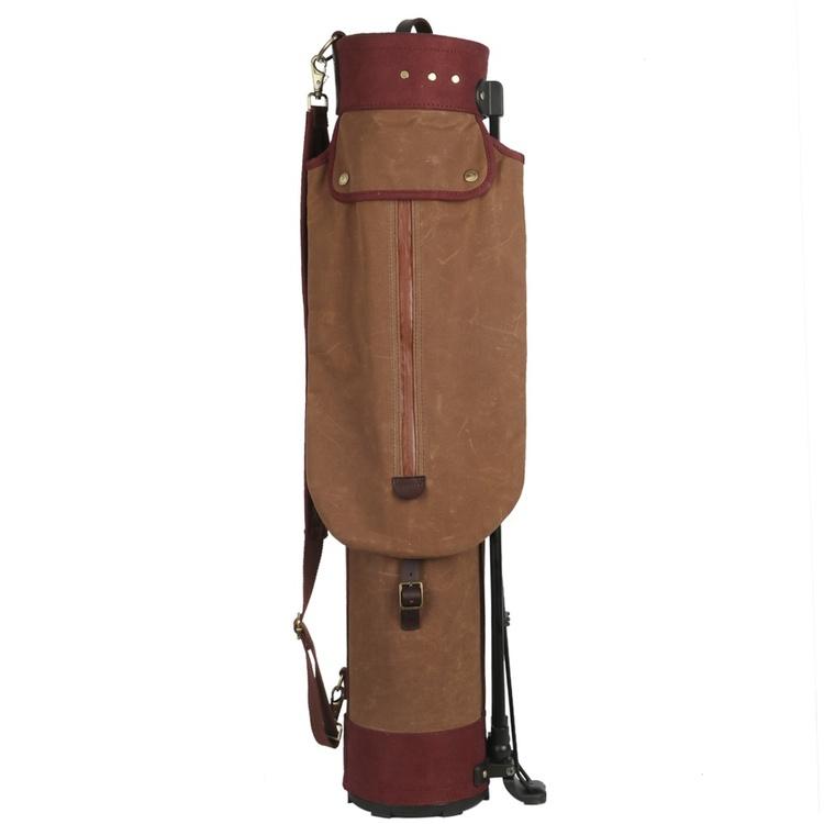 Vintage golfbag med benställ
