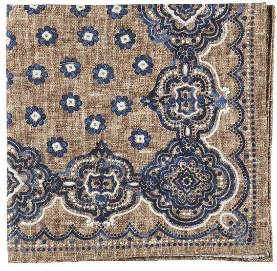 Sandfärgad bröstnäsduk - Atlas Design