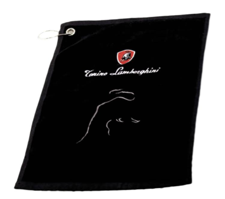 Svart golfhandduk - Tonino Lamborghini