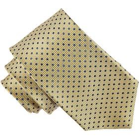 Gul mönstrad slips 7cm - Atlas Design