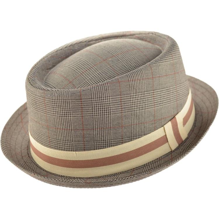 Ljusbrun Pork Pie hatt