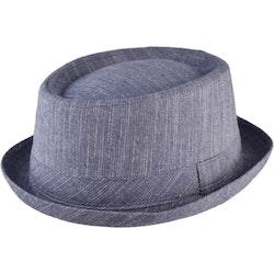 Blå Pork Pie hatt