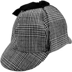 Grårutig Sherlock Holmes Deerstalker hatt