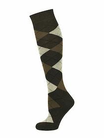 Brun argyle knästrumpa - MySocks