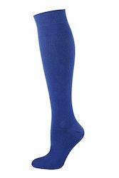 Blå enfärgad knästrumpa - MySocks