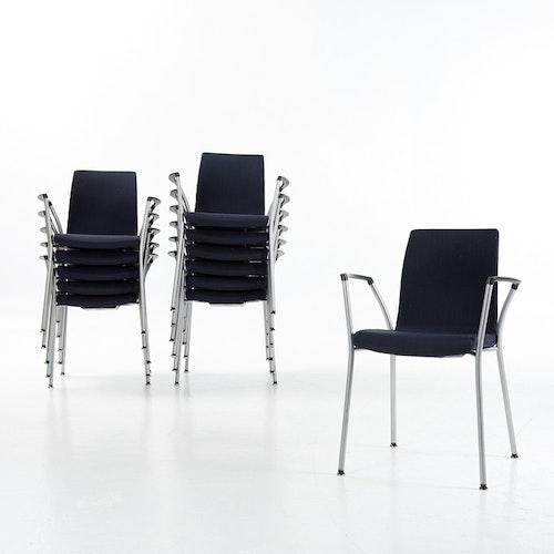 Stapelbar stol, Akaba Gorka - Mörkblå