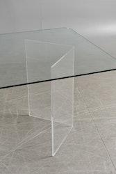 Bord, specialdesignat med glasskiva & underrede i plexi