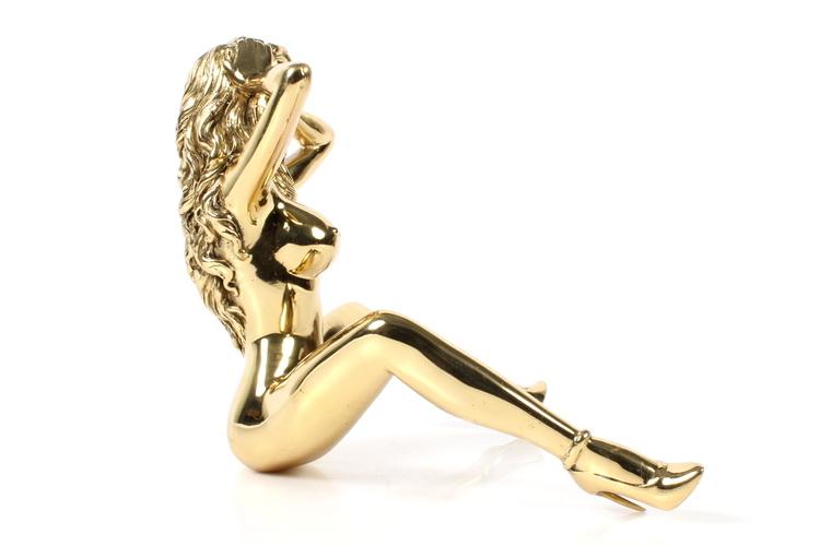"Robbi Jones ""Coco"" - Polerad mässing skulptur 25 cm"