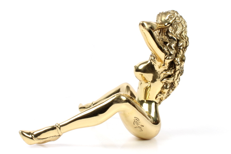 "Robbi Jones ""Coco 2"" - Polished brass sculpture"