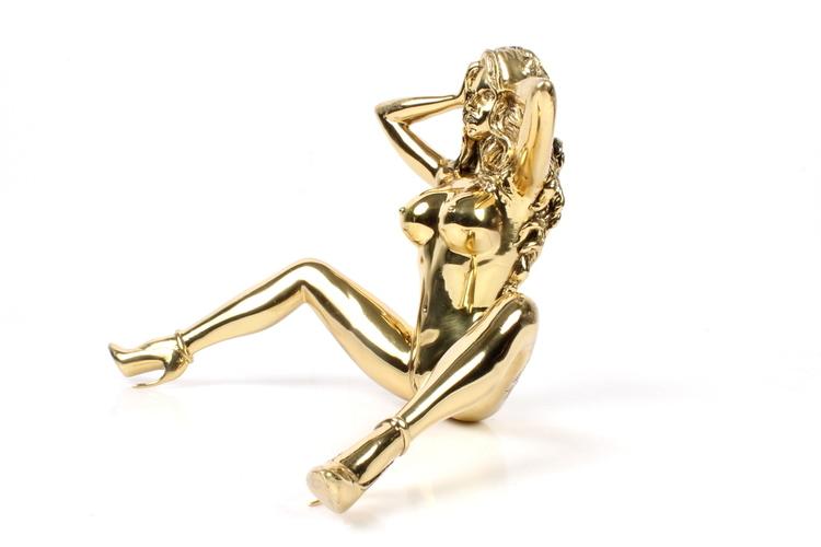 "Robbi Jones ""Coco 2"" - Polished brass sculpture"