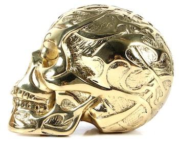 """Robbi Jones, """"Skull"""" - Polerad mässing"""