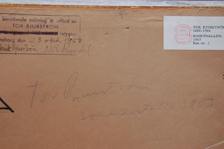 Oljemålning, Tor Bjurström 1888-1966 - Sign Bjurström