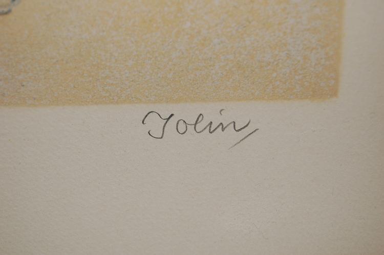 Färglitografi, Einar Jolin Geisha Sign. Jolin 290/360