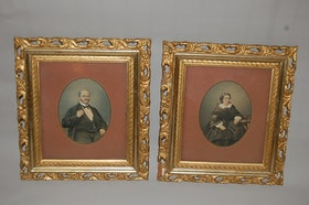 Porträtt, Paret von Scheven / Schewen 1820-1889