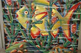 Oljemålning, Fisk Arnington / Amington