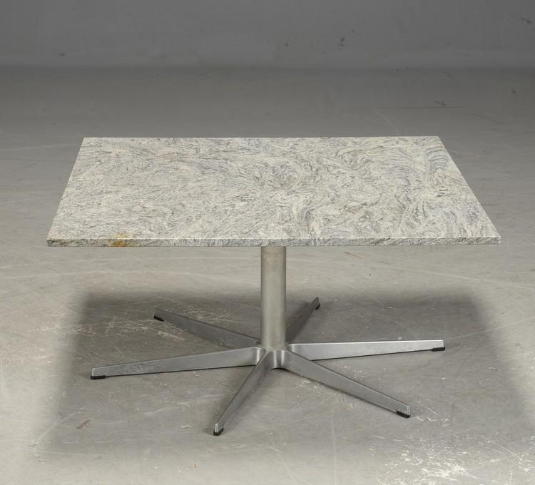 Vintage Arne Jacobsen - soffbord med granit skiva