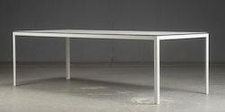 Matbord - svart kant & vit laminat - 242 cm