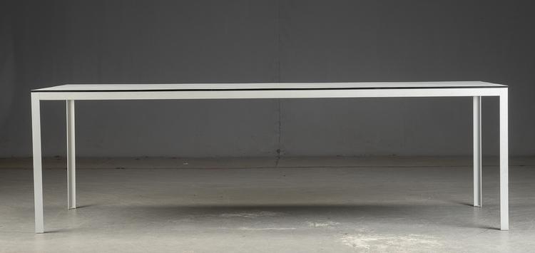 Matbord - Svart kant och vit laminat - 242 cm
