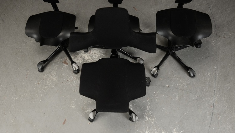 Skrivbordsstol, HÅG Capisco 8106 - Nackstöd - Svart - Peter Opsvik