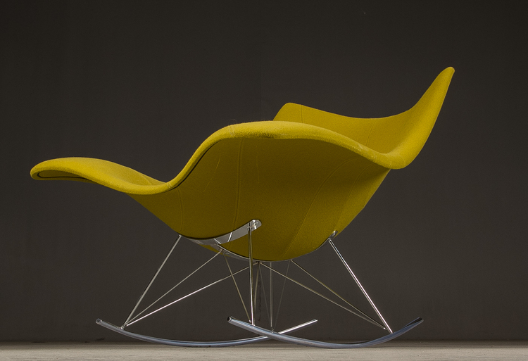 Klädd gungstol, Fredericia Furniture Stingray