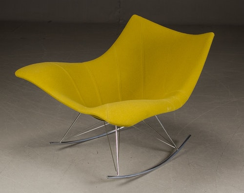 Klädd gungstol, Fredericia Furniture Stingray
