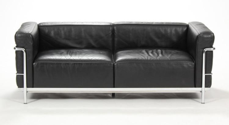Soffa, Cassina LC3 Svart Skinn - Le Corbusier