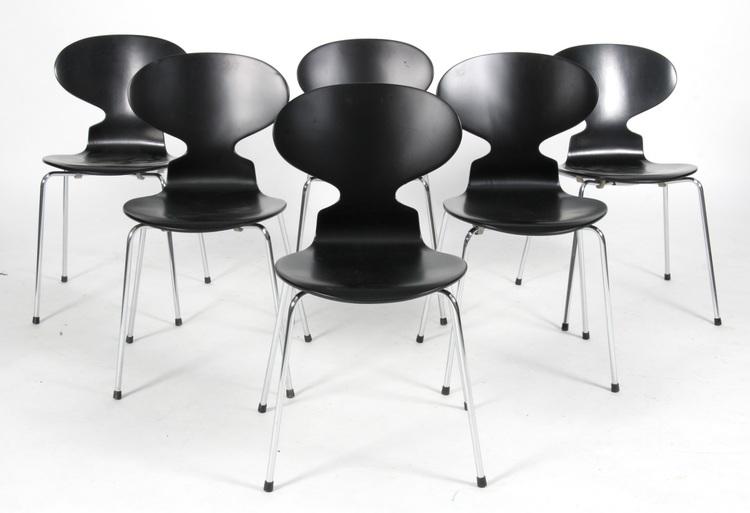 Stolar, Fritz Hansen Myran 3101 Svart - Arne Jacobsen