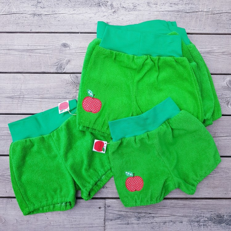 Puffshorts i frotte 110/116