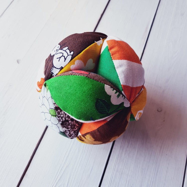 Gripboll orange/brun