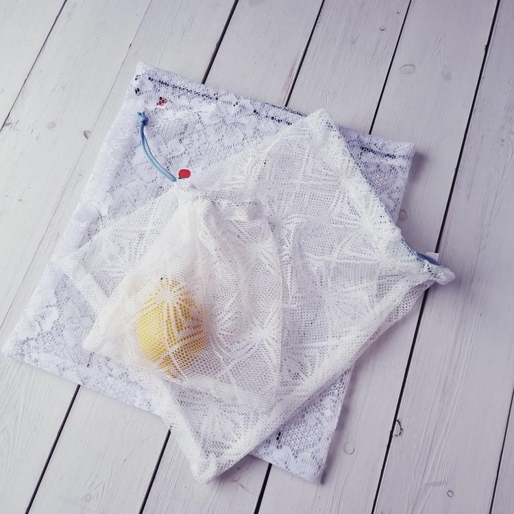 Fruktpåse  vit 3-pack