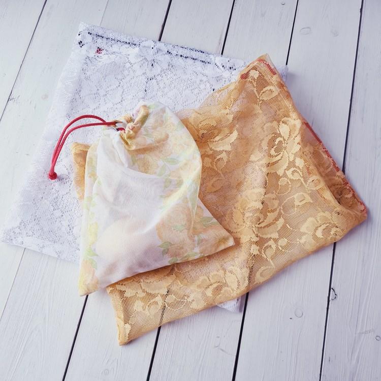 Fruktpåse 3-pack vit/gul