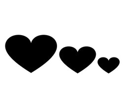 Hjärta -Väggdekal-