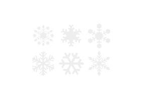 Snöflingor Små 5-Pack - Skyltvinyl