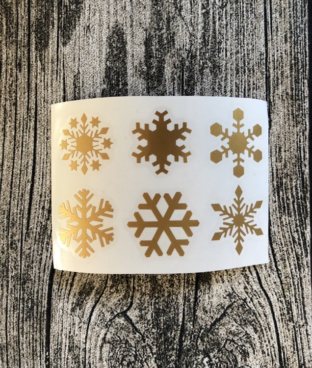 Snöflingor Stora 5-Pack - Skyltdekal-