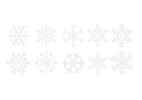 Snöflingor Stora - Skyltvinyl