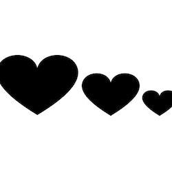 Hjärta - Textiltryck -