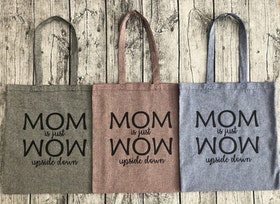 "Tygkasse Recycled ""MOM is just WOW"""