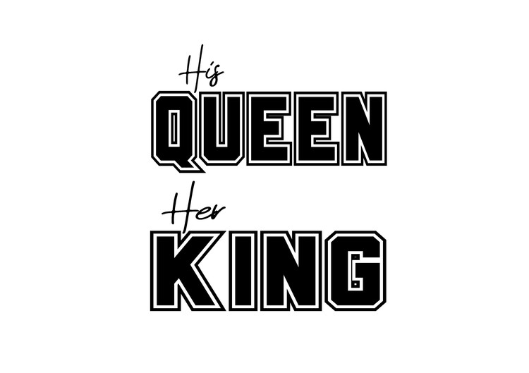 His Queen - Textiltryck -