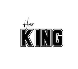 Her KING - Textiltryck -