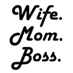 Wife Mom Boss - Textiltryck -
