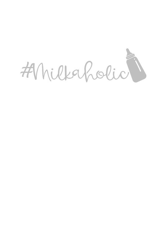 Body med tryck #Milkaholic