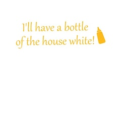 The House White -Textiltryck-