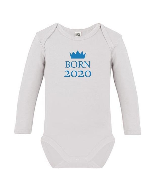 "Body med tryck ""Born 2020"""
