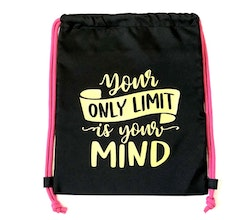 """Gympapåse med tryck """"Your only limit is your mind"""""""